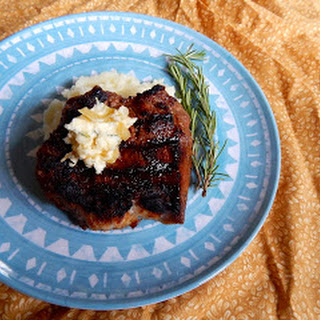 Grilled Ribeye with Rosemary Caramelized Onion Butter