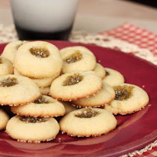 Rhubarb Thumbprint Cookies.