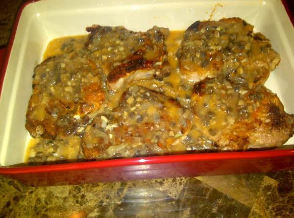 Pork Chops In Garlic-mashroom Sauce Recipe