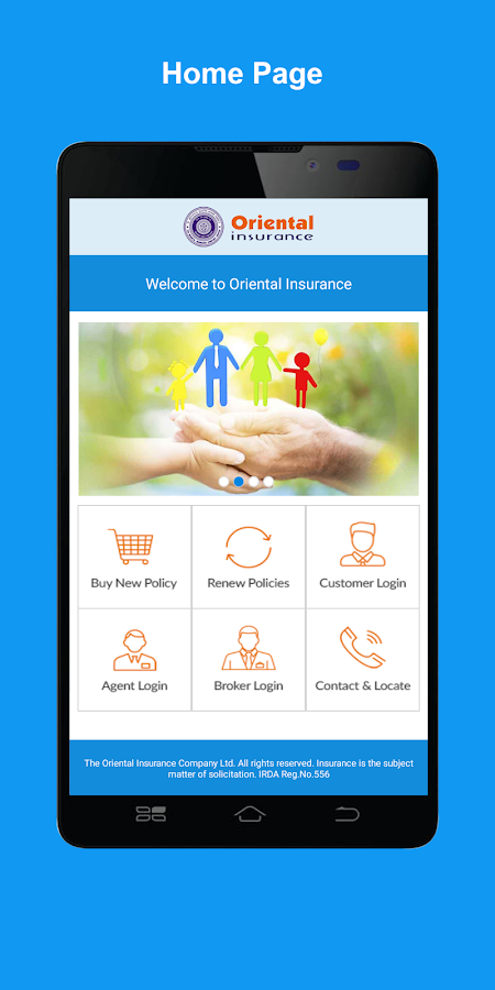 Oriental Insurance on Mobile- screenshot