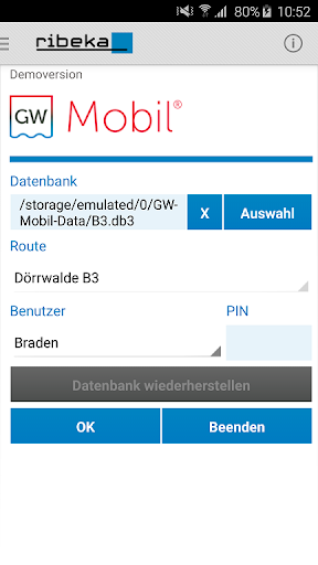 GW-Mobil 9 for Android