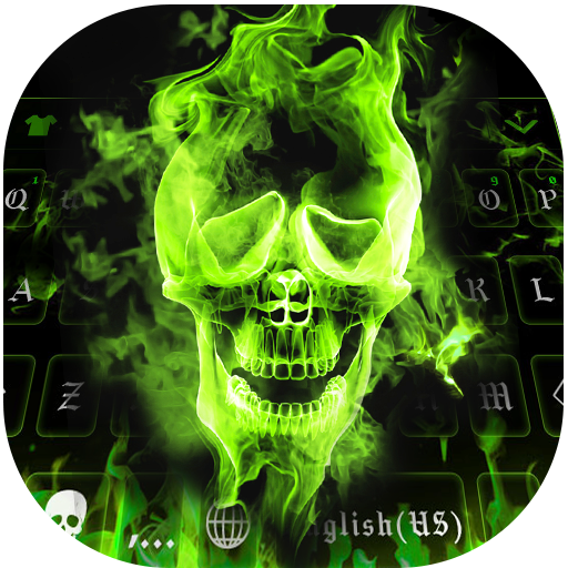 Hell Fire Keyboard Theme – Skull, Uniqueness, Cool