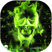 Hellfire Skull keyboard - Flaming Uniqueness Theme