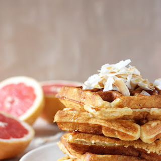 Grapefruit Buttermilk Waffles with Toasted Coconut