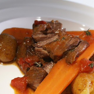 Slow-Cooked Beef with Red Wine.