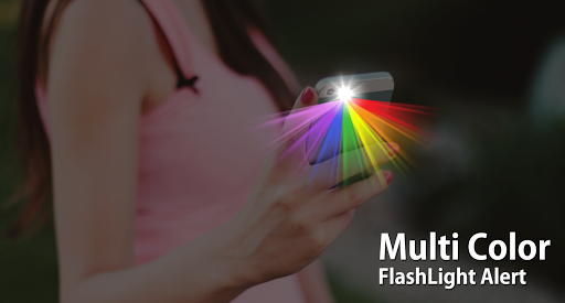 Screenshot for Color flashlight: flash on call & sms, flash alert in United States Play Store