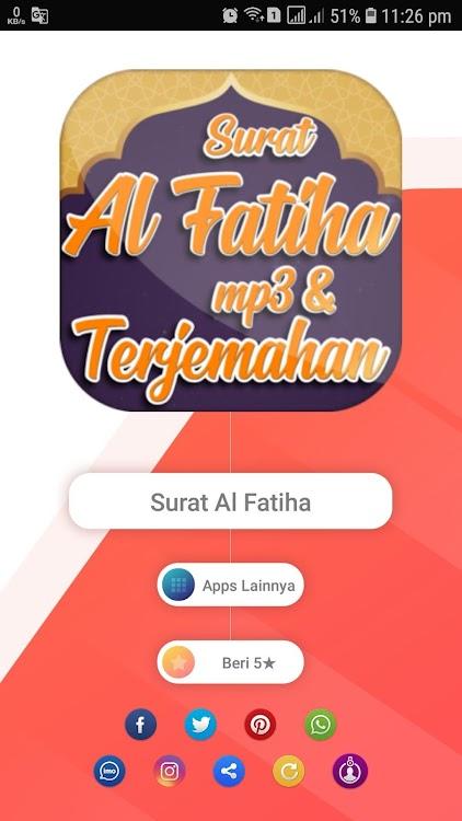 Surat Al Fatihah Mp3 Merdu Dan Artinya Android Apps Appagg
