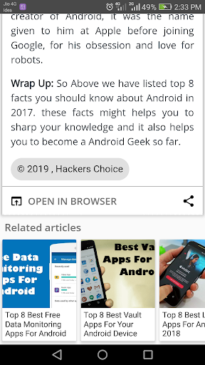 Hackers Choice Pro | Ads Free App Report on Mobile Action