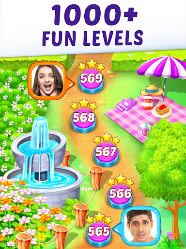 Gummy Paradise - Free Match 3 Puzzle Game apkpoly screenshots 13