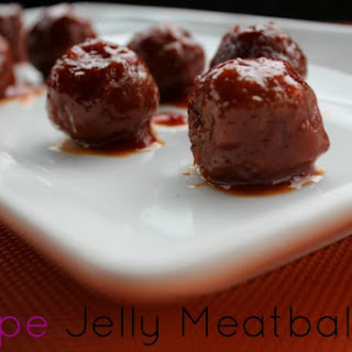 Grape Jelly Meatballs.
