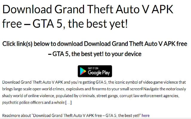 Grand theft auto v apk download