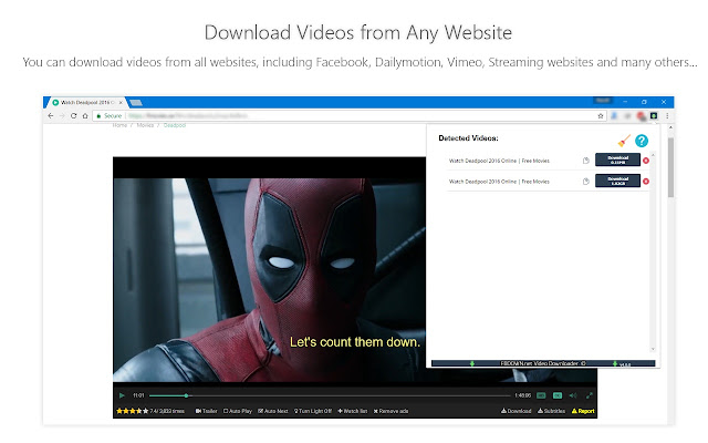 google chrome extension download vimeo videos
