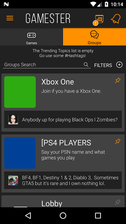 Gamester - Meet Gamers, Discover Video Games- screenshot
