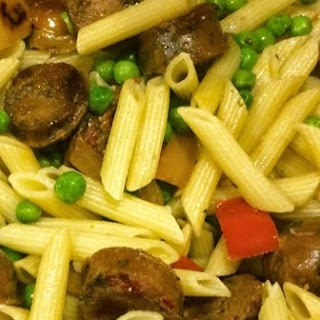 Penne Pasta with Chicken Sausage & Veggies