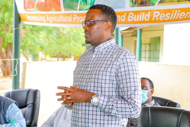 Garissa livestock executive Mohamed Shale at the Agricultural Training Institute on Monday, March 9, 2021