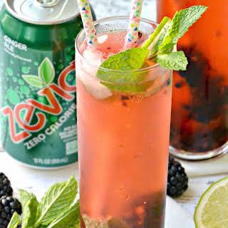 Blackberry Ginger Mint Mocktail.