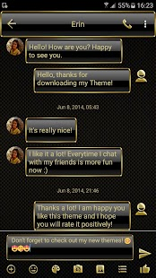 Frame Gold SMS Zprávy - náhled