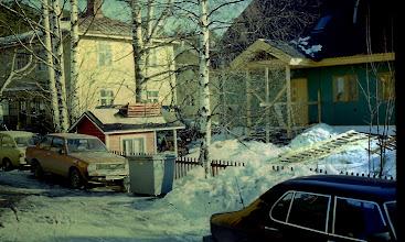Photo: 1979 Sopukatu talvella, rakenteilla uusi talo, Sopukatu 15