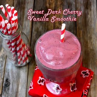 Sweet Dark Cherry Vanilla Smoothie.