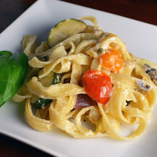 Vegetable Fettuccine Alfredo