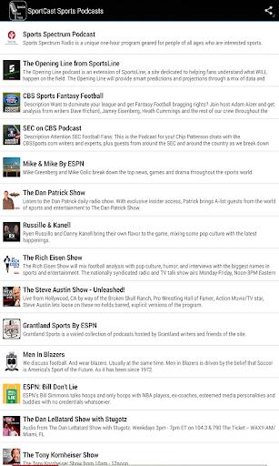 SportsCast Sports Podcasts