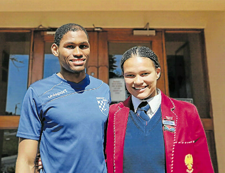 Hudson Park High school pupils Rhys Poovan, and Zimkhitha Weston , 16. The two athletes were recently selected to be part of the Sascoc Youth Olympic squad which will be travelling to fly to Argentina to compete in the 2018 Youth Olympic In Argentina