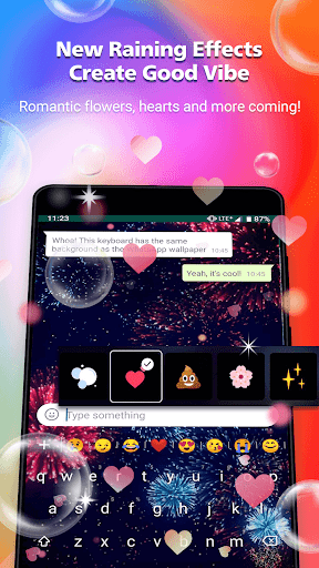 Rockey-fast emoji send keyboard for coloful chat 0.13.9 screenshots 2