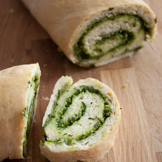 Wild Garlic Pesto Swirl Bread