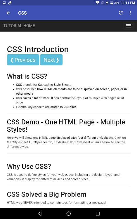 W3Schools Offline – (Android Apps) — AppAgg