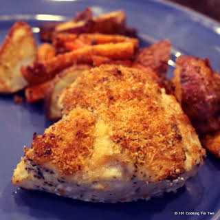 Easy Roasted Chicken Breasts with Carrots and Potatoes.