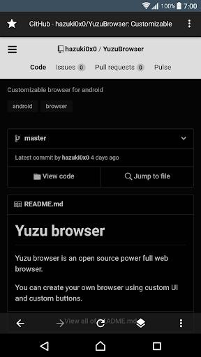Yuzu Browser: web browser