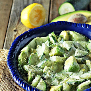 Cucumber Avocado Salad.
