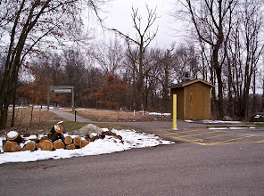 Photo: Walkway from upper parking lot to the Gerald E. Eddy Discovery Center.