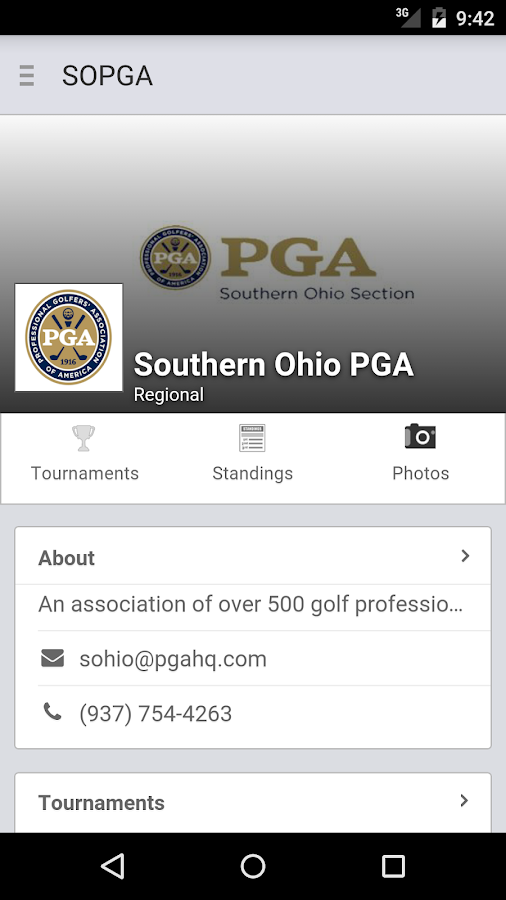 Southern Ohio PGA- screenshot