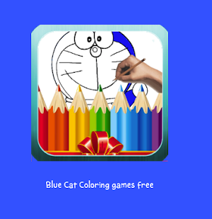 Blue Cat Coloring games free - náhled