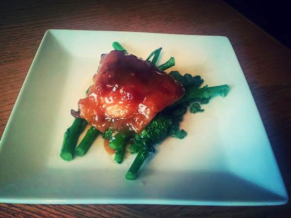 Maple Dijon Chicken With Sauteed Baby Broccoli