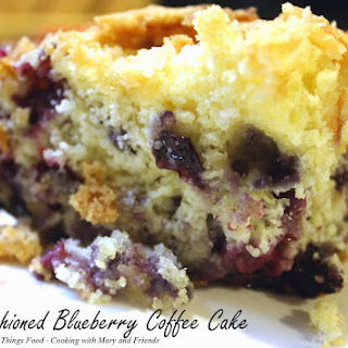 Old-Fashioned Blueberry Coffee Cake.