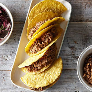 Easy Lentil Walnut Tacos with Cabbage Lime Slaw.