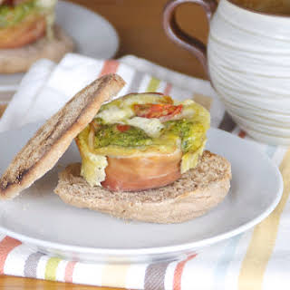 Caprese Egg Cup Sandwich.