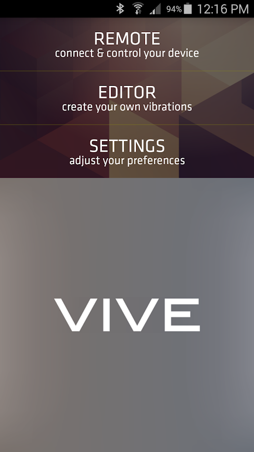 VIVE remote- screenshot