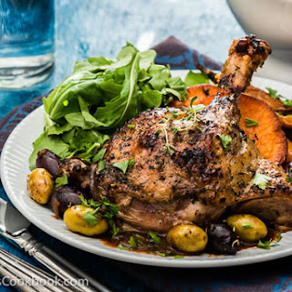 Mediterranean Slow Roast Duck with Olive Sauce