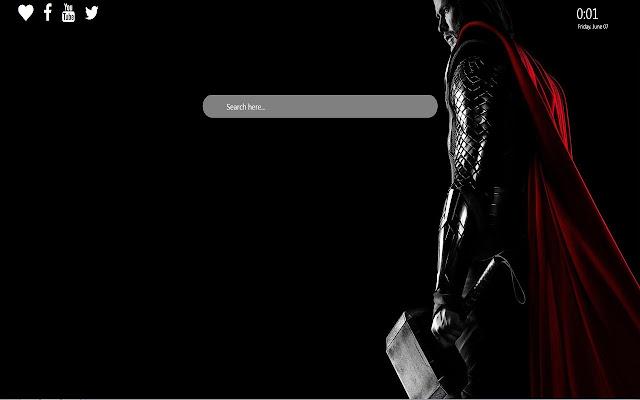 Thor Wallpaper Theme For Google Chrome
