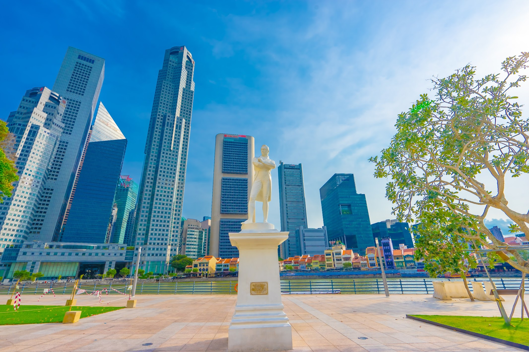 シンガポール ラッフルズ郷上陸地点