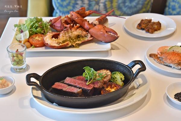 台北六福萬怡酒店敘日全日餐廳 五星buffet吃到飽!和牛牛排龍蝦奢華位上主餐
