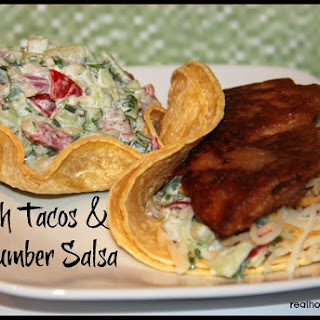 Fish Tacos with Cucumber Salsa