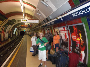 "Photo: Leaving for the airport.  Last time on the ""tube"""