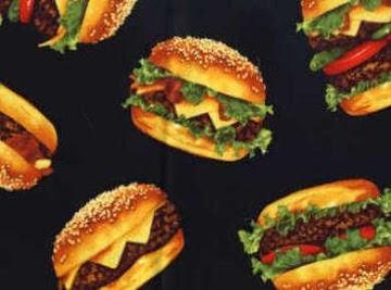 Fireman Bob's  Burger  Series...... Recipe