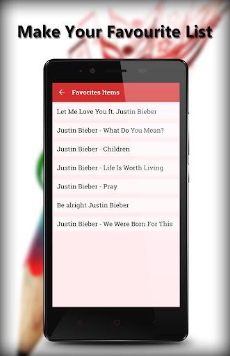 Lyrics for justin bieber 1.1 screenshots 3
