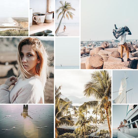Tropical Collage - Instagram Post Template