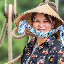 Returning Home by Don Young - People Portraits of Women ( woman, beauty, smile, people, culture, asian,  )